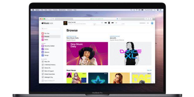 Apple Music lance une version Bêta pour le Web