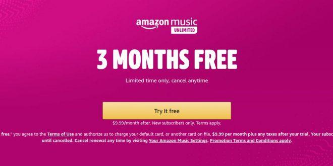 Amazon Music Unlimited offre un essai gratuit de 3 mois, à saisir avant le 2 juin
